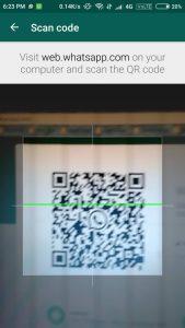 whatsapp QR scanner