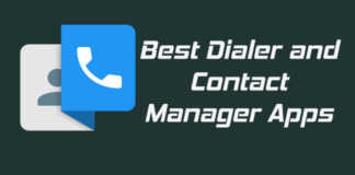 Best dialer and contact manager Apps