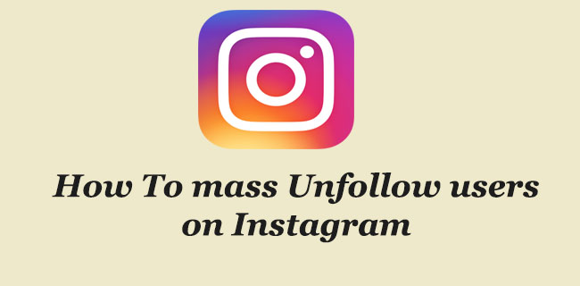 mass unfollow instagram
