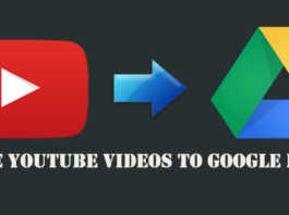 save youtube videos to google drive