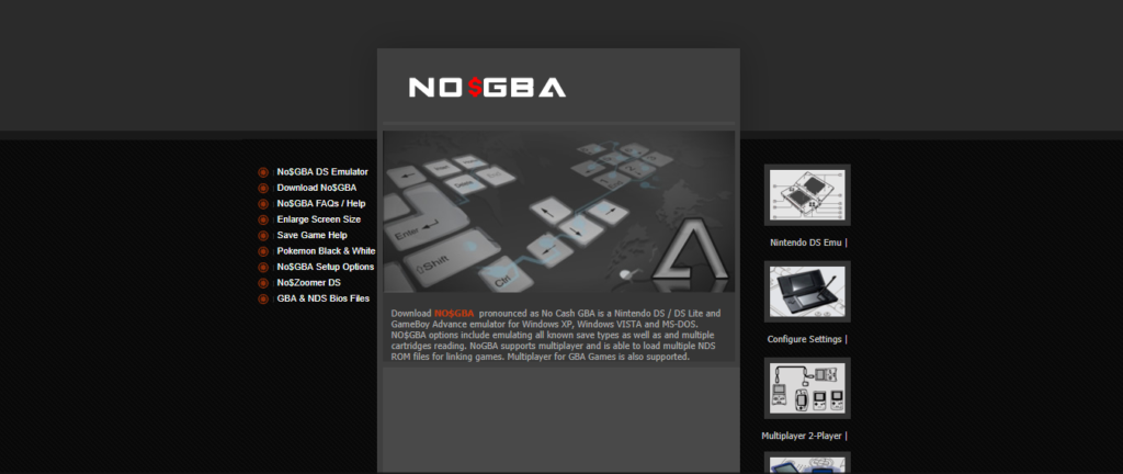 NoGBA best DS Emulator for NDS Roms